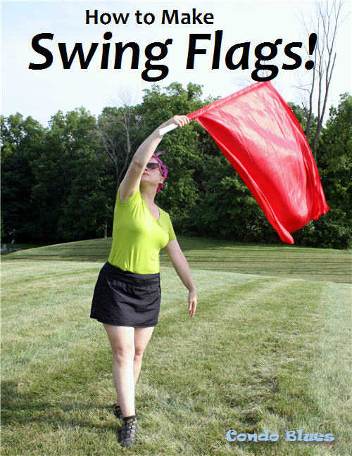 condo blues how to make color guard swing flags. Black Bedroom Furniture Sets. Home Design Ideas