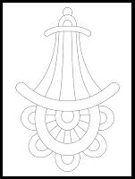zentangle free hand embroidery pattern