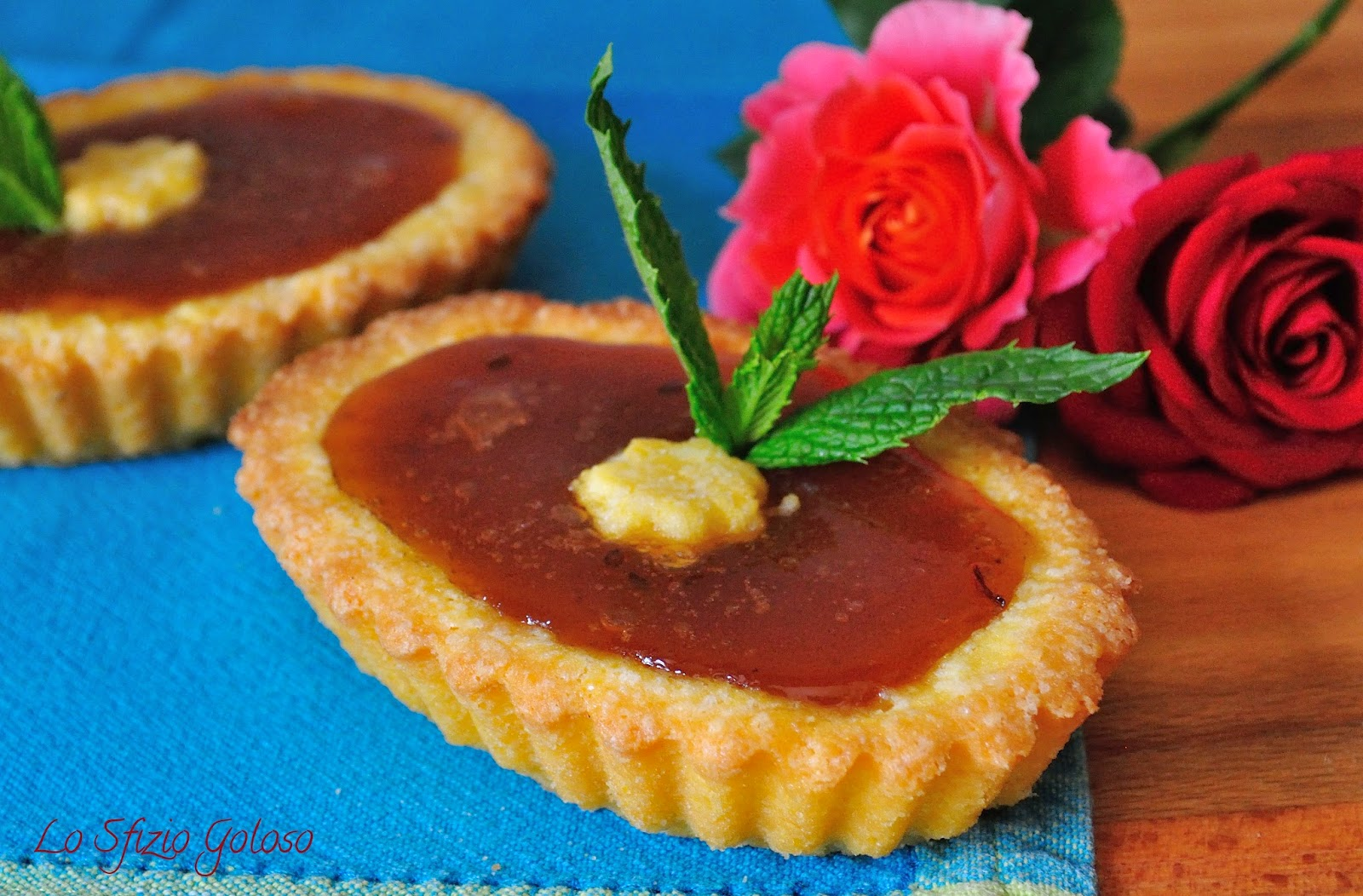 crostatine senza glutine all'uva spina