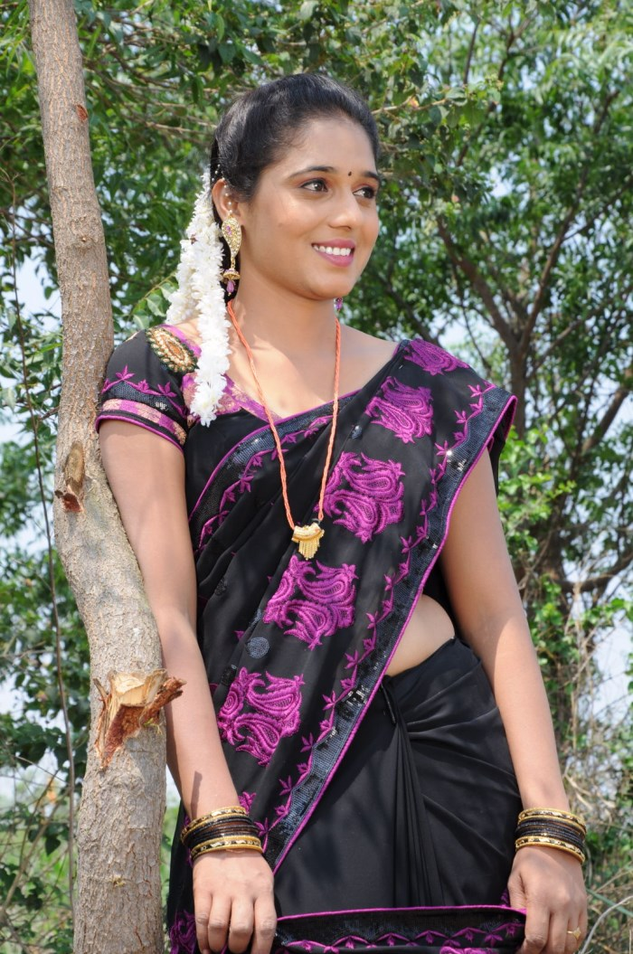 Geetha Pallavi in Saree Cute Beauty