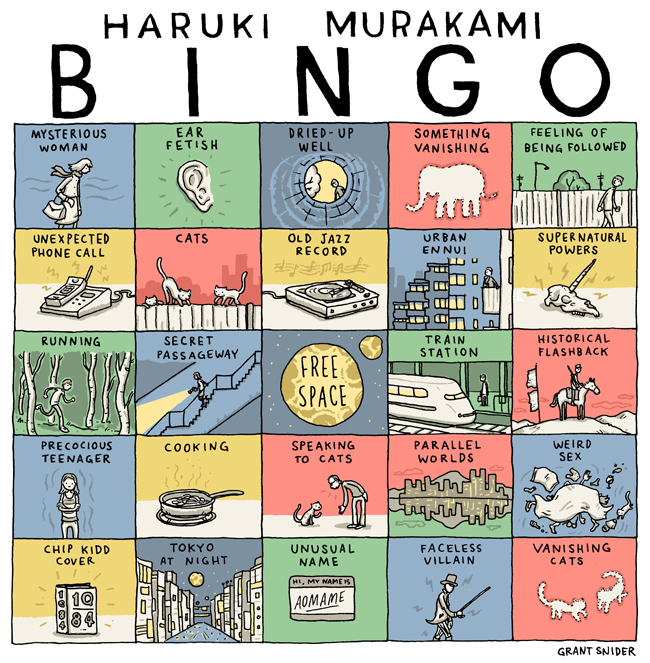 """haruki murakamis short stories """"most of the short stories by murakami happen in a very calm and realistic setting and the introduction of a strange and unexpected character or a small event will break the atmosphere and ."""