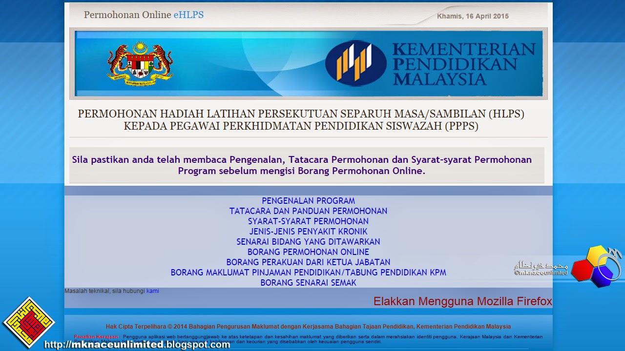 Tawaran Hadiah Latihan Persekutuan Separuh Masa Sambilan Hlps Tahun 2015 Kementerian Pendidikan Malaysia