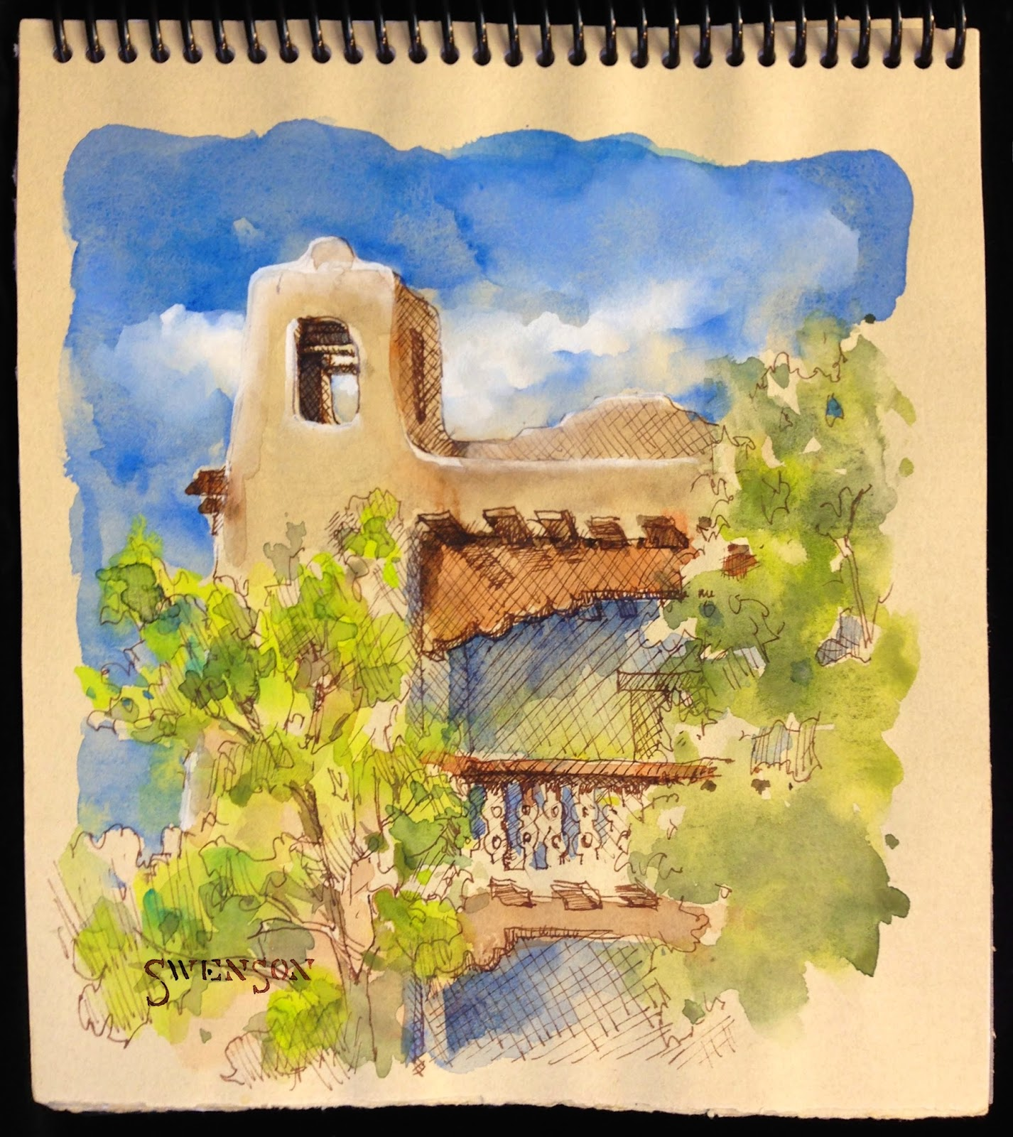 I sketch and paint on papers not intended for watercolor. For example, I've found that the Canson Mi-Teintes pastel papers handle watercolor nicely, ...