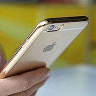 เคส-iPhone-6-รุ่น-เคส-iPhone-6-,-6s-เนื้อ-TPU-นิ่ม-ขอบสี-หลังใส