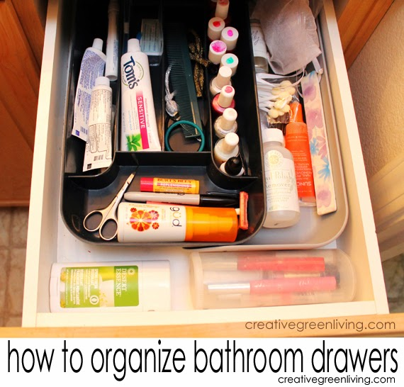 How to organize your bathroom drawers in 30 minutes or less creative green living for How to organize bathroom drawers