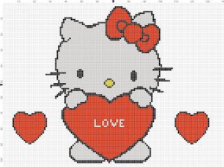 Hello Kitty love virtual stitch