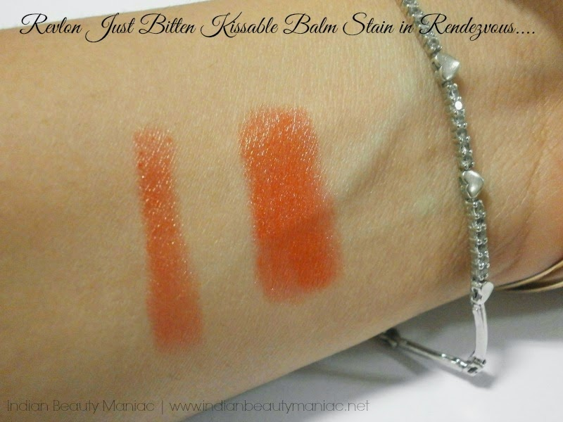 Revlon Just Bitten Kissable Balm Stain in Rendezvous Swatch