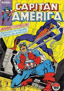 Portada de Capitán América Volumen 1 Nº 1 Ediciones Forum
