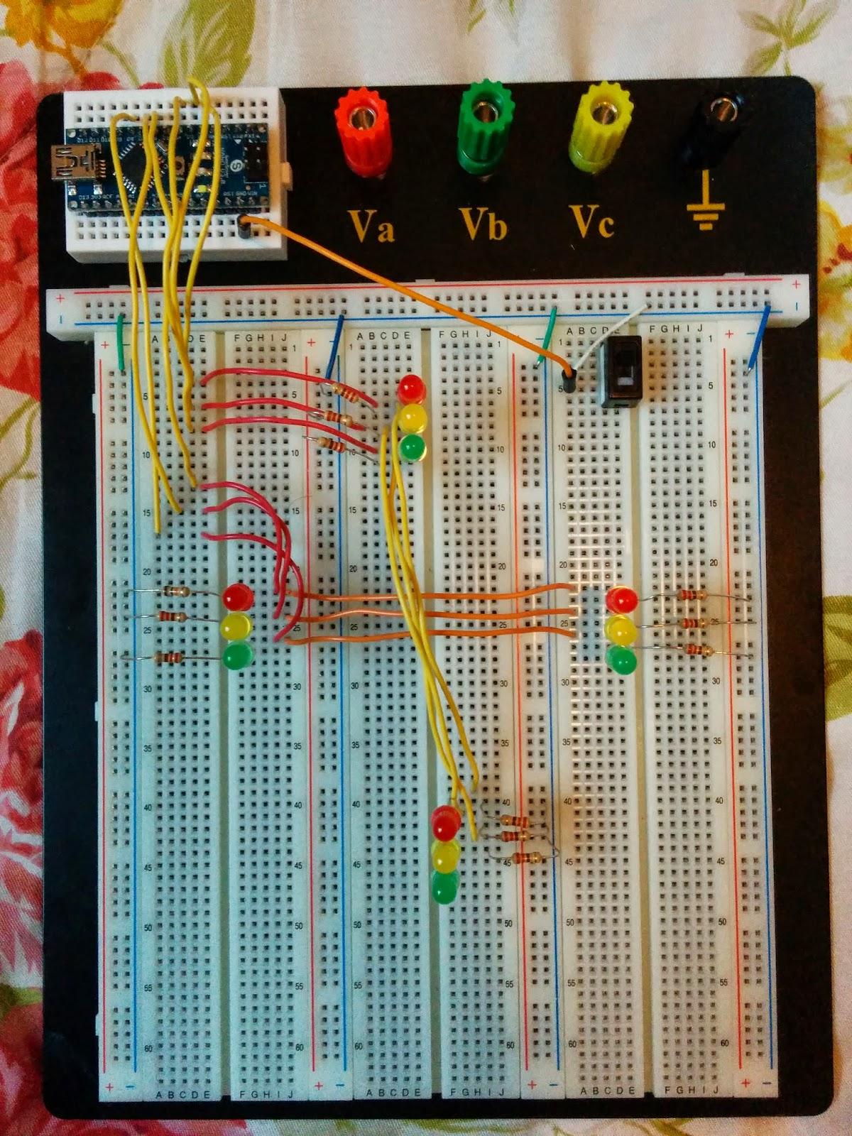 Arduino coder traffic light controller
