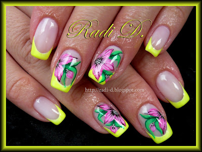 It s all about nails Yellow Neon & Flowers #2: P JPG