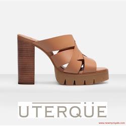 Queen Letizia Style UTERQUE Sandals and ADOLFO DOMINGUEZ Bag