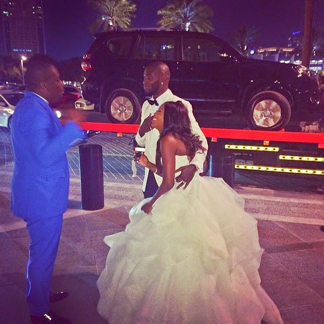 Don Jazzy Gives Tiwa Savage & Hubby Brand New SUV As Wedding Present (Photo)