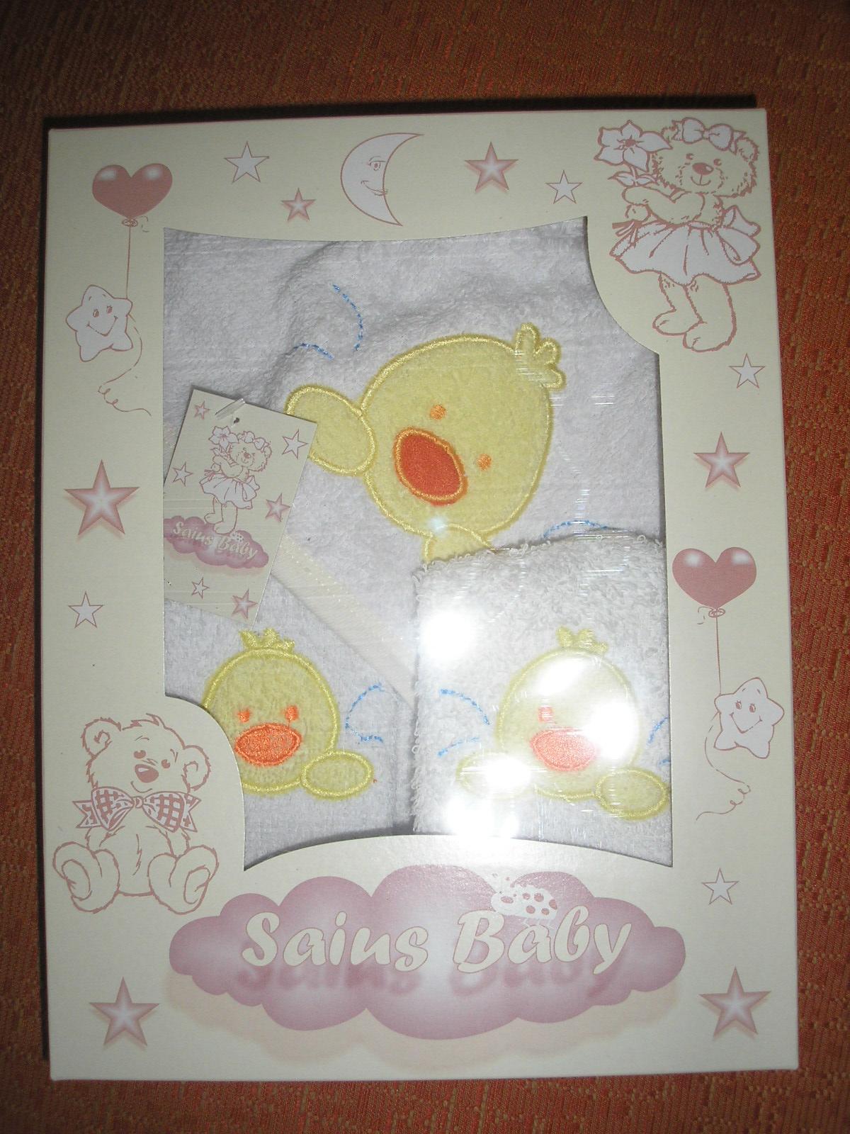 Paula cher ropa de bebe set de toalla para bebes patito for Apliques para toallas