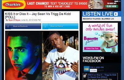 Help Trigg da Kidd win Kiss it or Diss it contest on KISS-FM!