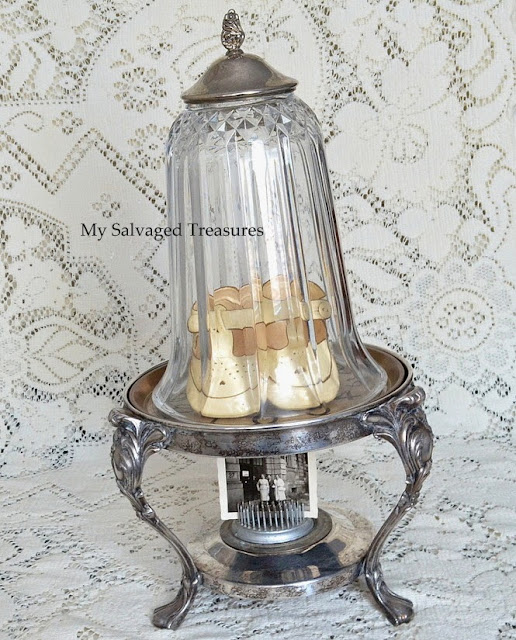 Repurposed Light Cover Antique and Vintage Decor Link Party at http://knickoftimeinteriors.blogspot.com/