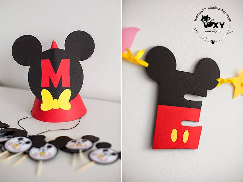 Mickey Mouse clubhouse, coif personalizat, coif Mickey Mouse, litera Mickey Mouse, litera personalizata Mickey