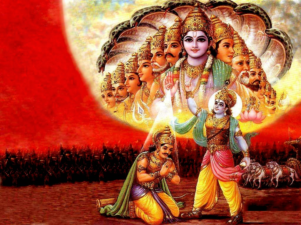 Best Mahabharat Geeta Gyan Krishn Arjun HD Wallpapers for free download