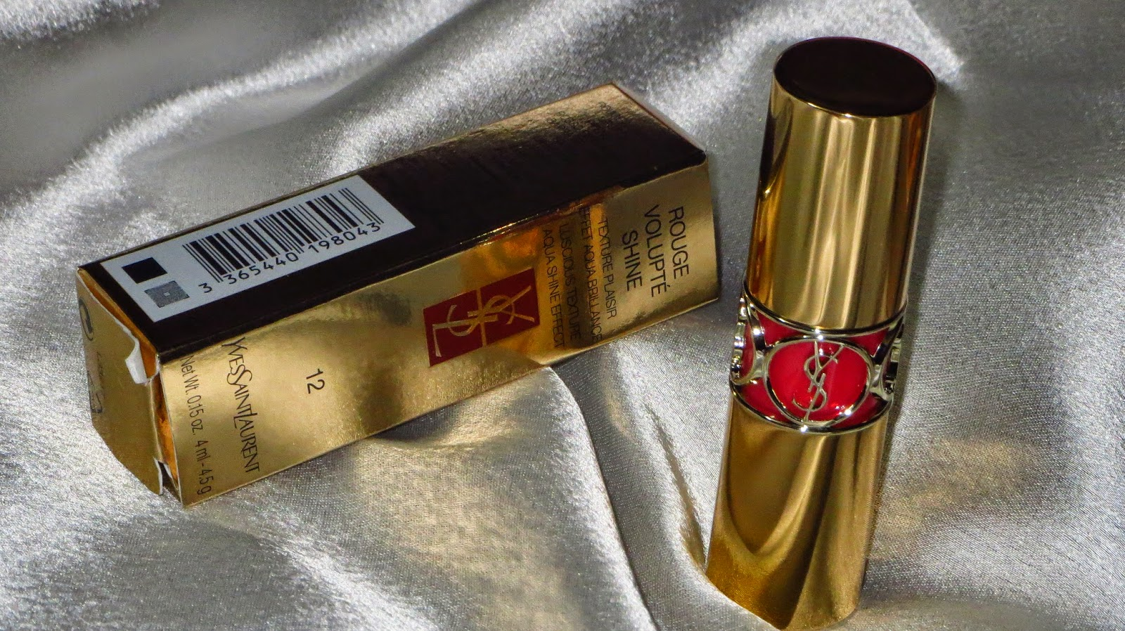 YSL Rouge Volupté Shine Lipstick in 12 Corail Incandescent in India