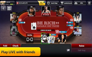 Screenshots of the Zynga poker: Texas holdem for Android tablet, phone.