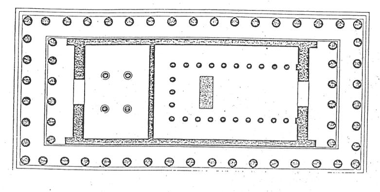 I templi greci il partenone for Planimetria interna