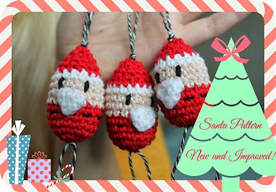 free crochet pattern santa ornament