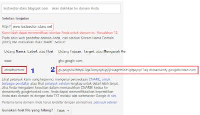 Cara Merubah Sub Domain Blogspot ke Domain Sendiri