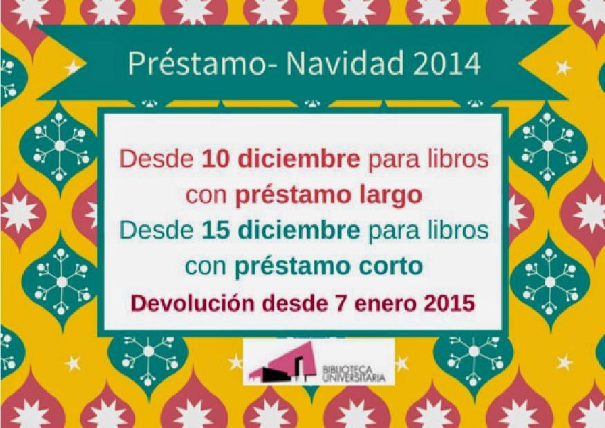Préstamo en período de vacaciones de Navidad 2014.