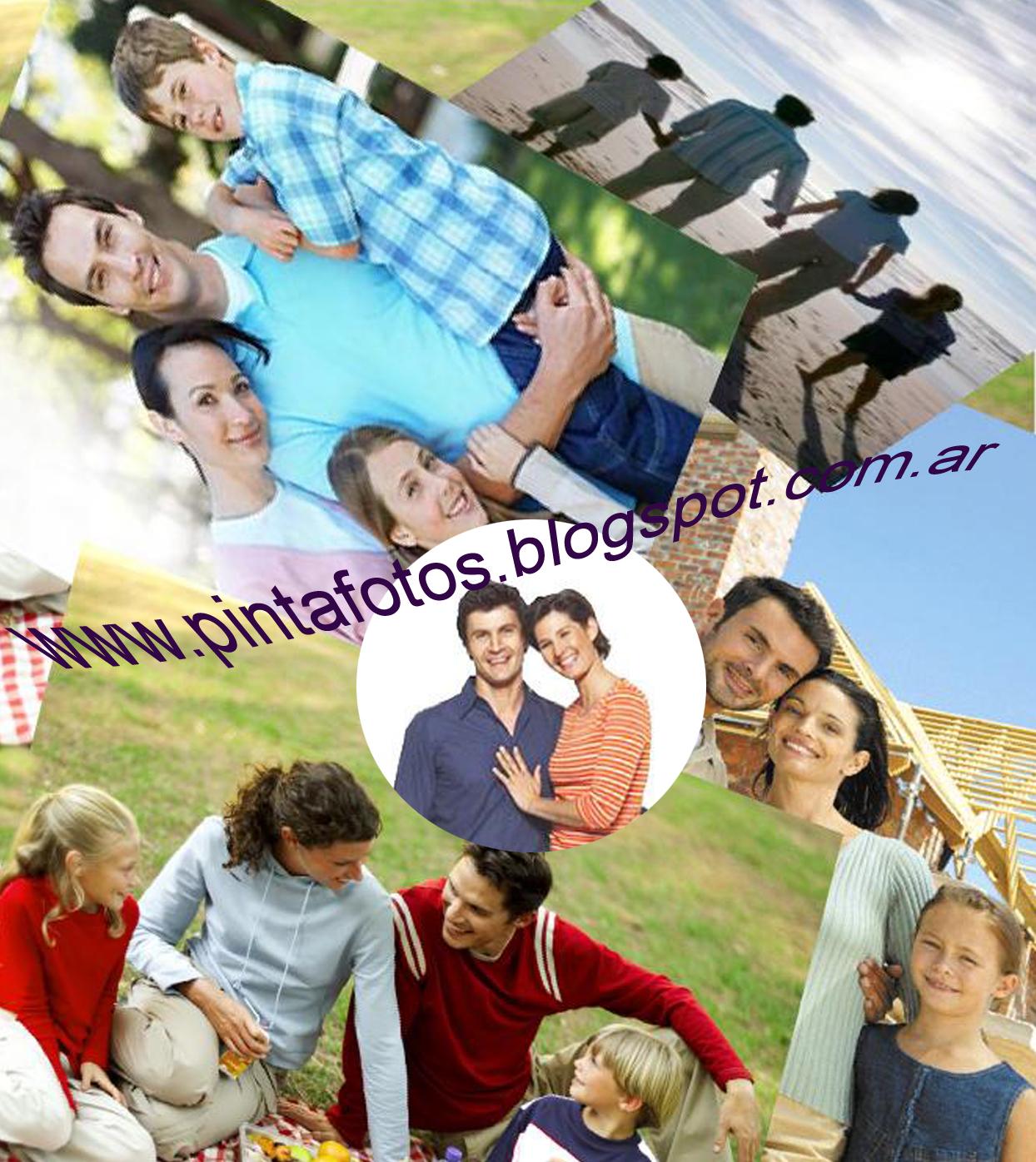Retoque Fotográfico y Diseño Gráfico: Collages de Fotos (Familia ...