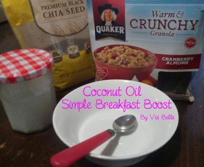 coconut oil, breakfast, weight loss