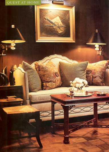 ... with family and take care of some things, but wanted to share these  images of beautiful rooms designed by one of my favorite designers, Andrew  Racquet.