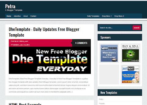 Petra Blogger Theme