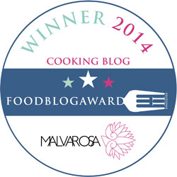 Vincitrice nella categoria cooking blog!