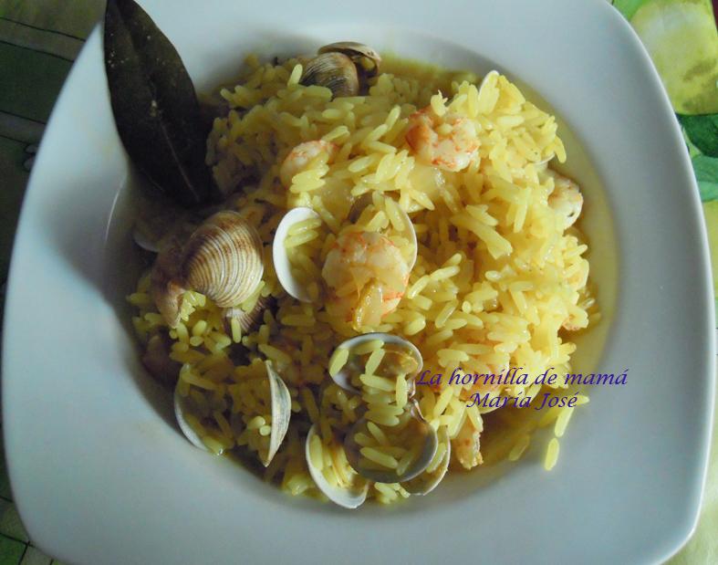La hornilla de mam arroz con almejas y gambas - Arroz con gambas y almejas ...
