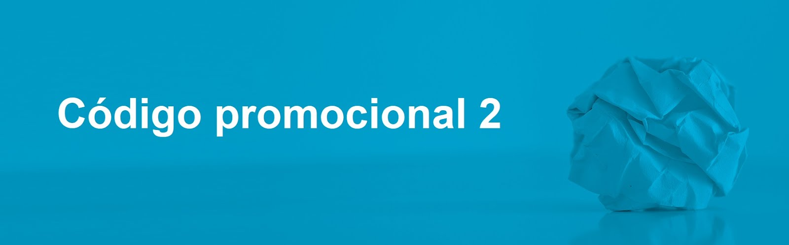 Código promocional 2