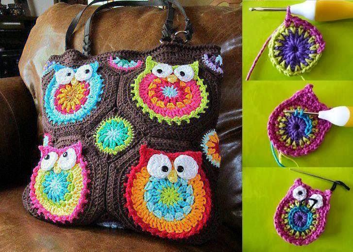 Buhos a crochet - Imagui