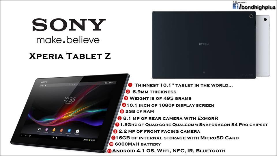 Bond High Plus : Sony Xperia Tablet Z
