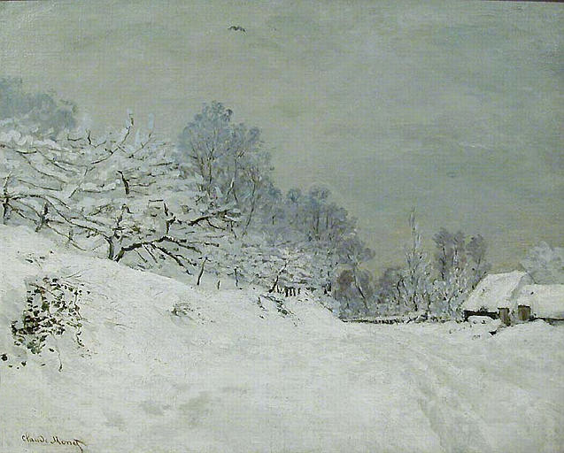 [Image: claude+Monet+Snow+near+Honfleur+1867.jpg]