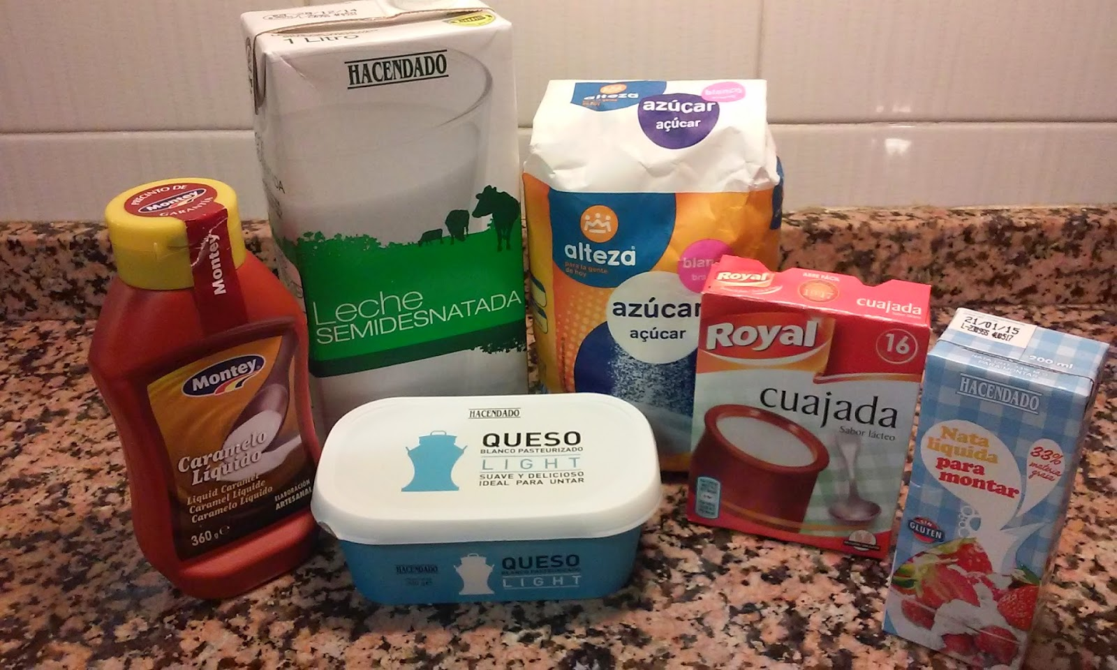 Ingredientes flan de queso Philadelphia