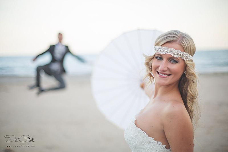 cinta par el pelo de novia sombrilla vintage