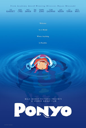 Poster Of Ponyo In Dual Audio Hindi English 300MB Compressed Small Size Pc Movie Free Download Only At worldfree4u.com