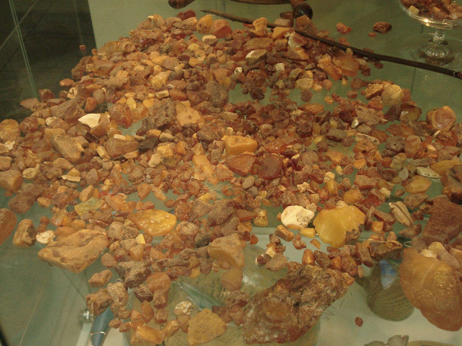 Kolekcja bursztynów - Muzeum rybołówstwa