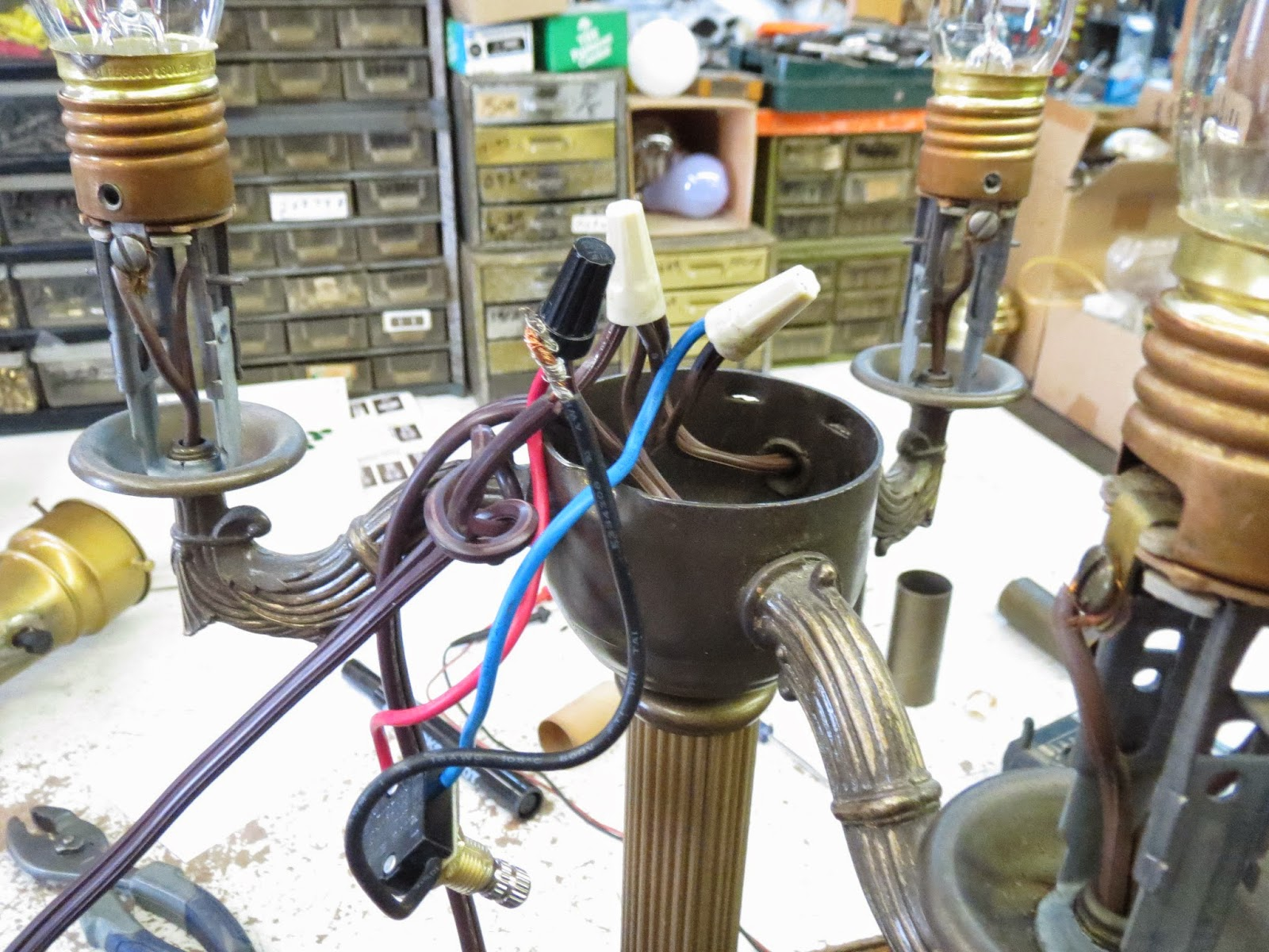 Lamp Parts and Repair | Lamp Doctor: Broken Antique Brass Floor ...
