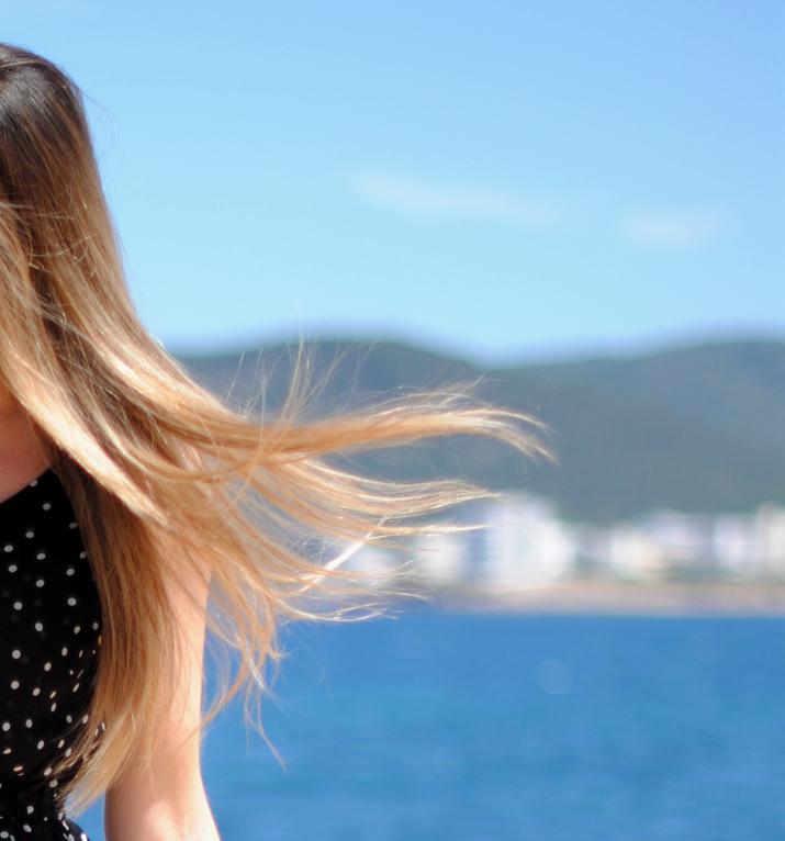 Blonde hair at fashion blog