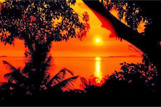 Sunset di kepulauan karimunjawa