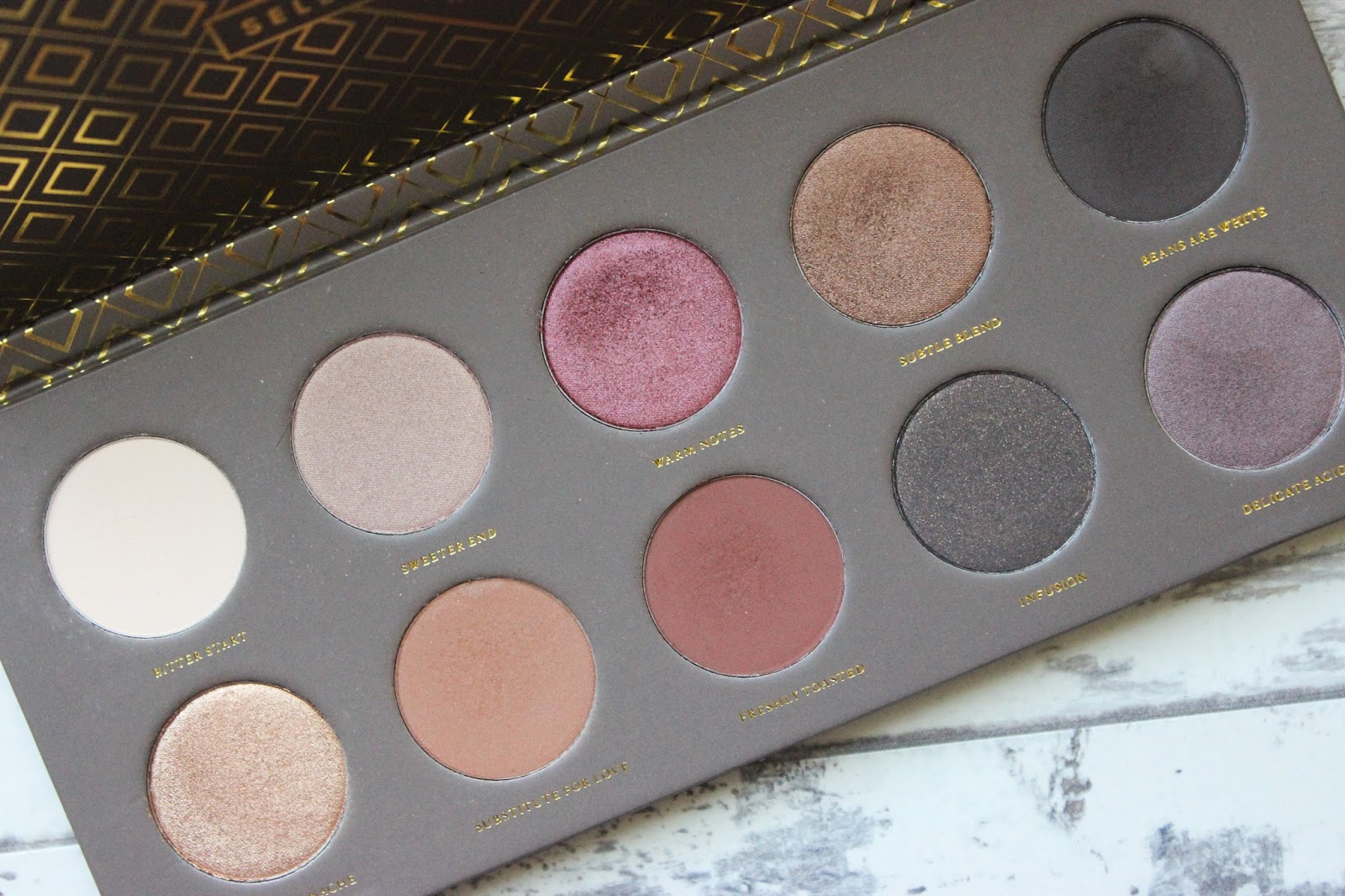 Zoeva Cocoa Blend Palette, Nude Palette, Zoeva, Discoveries Of Self Blog, Eye Shadow Palette, Swatches, Dark Skin