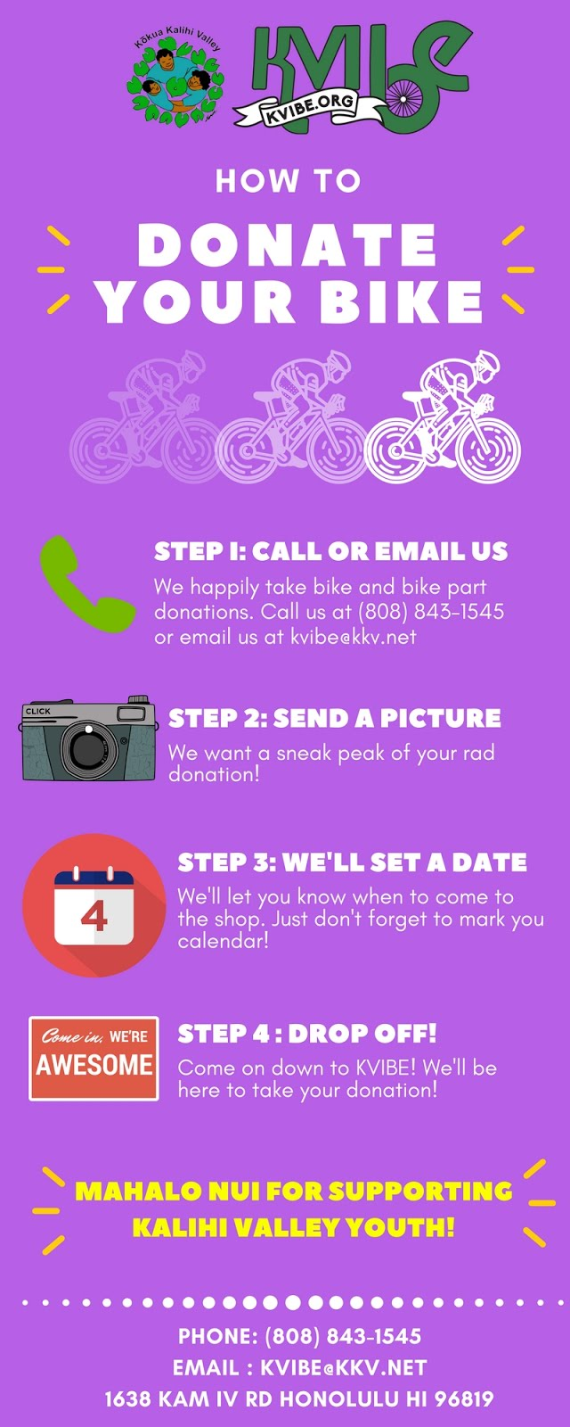 Wanna Donate Your Bike?