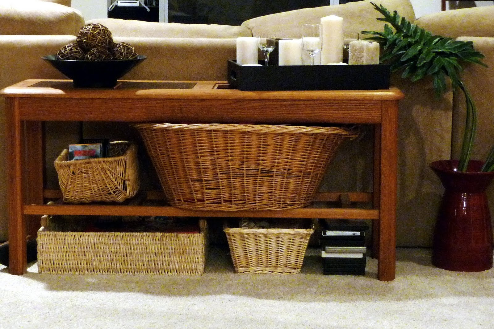 Bold beautiful brainy a life well lived then and now living room sofa table - Living room furniture diy ...