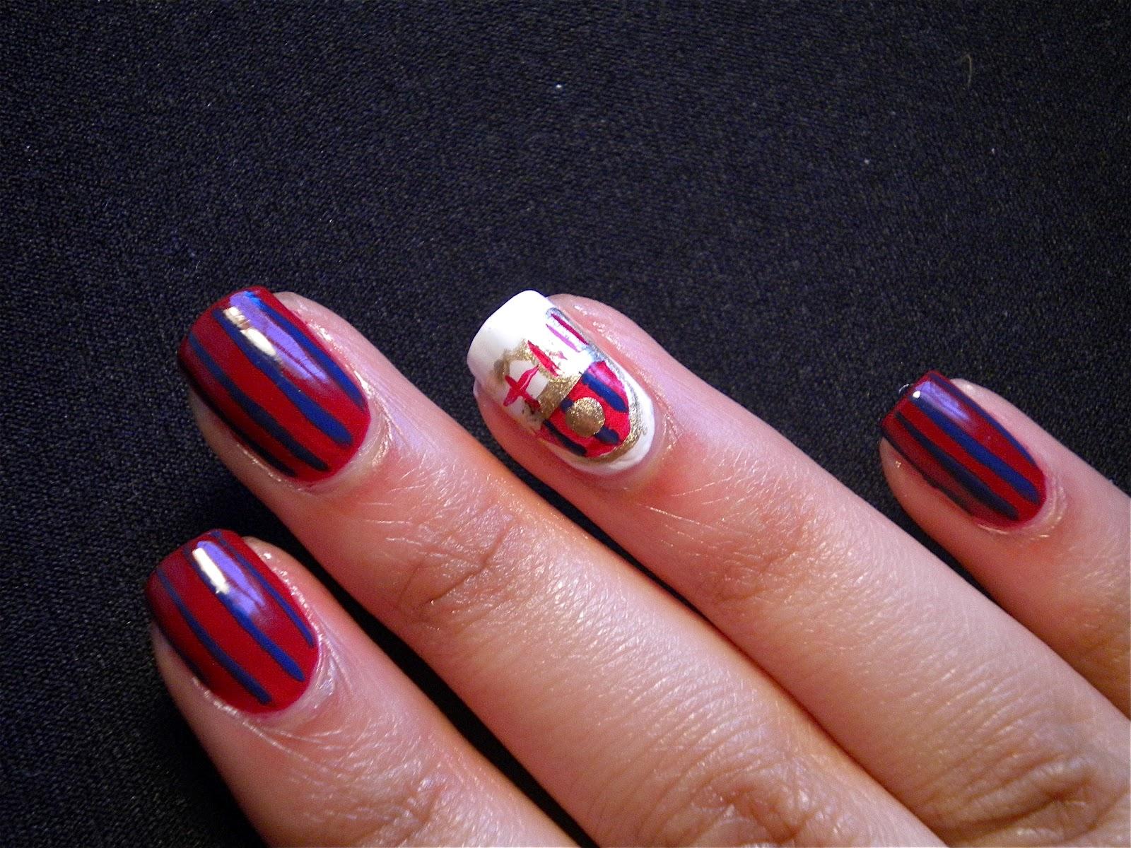 FC Barcelona Fan Nails | Something Polished