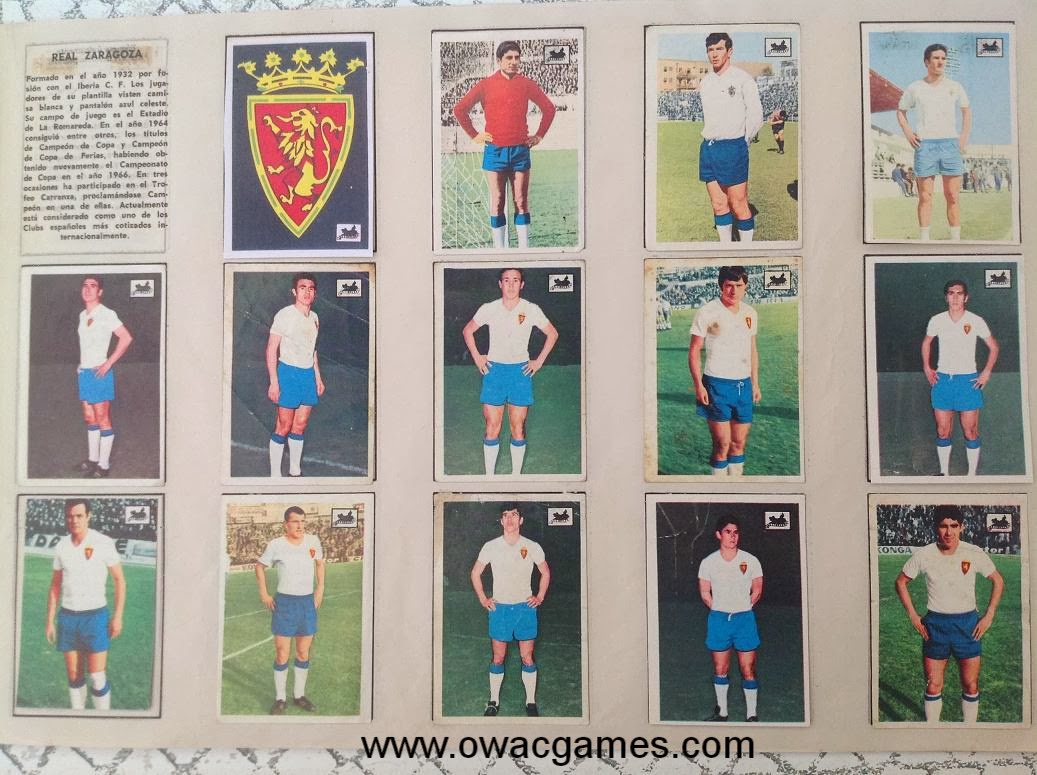 Real Zaragoza 1969-70 Chocolates La Cibeles
