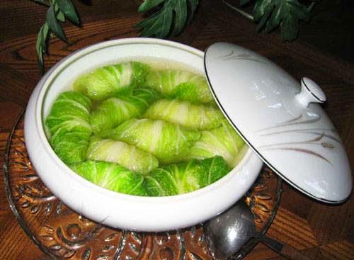 Vietnamese Recipes Vegetarian - Canh bắp cải cuấn thị